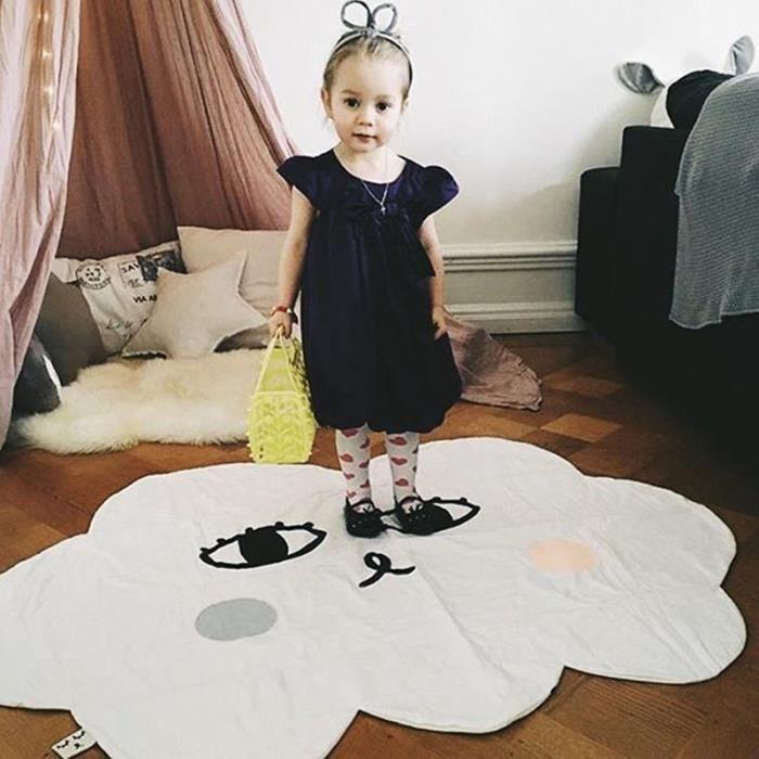 Tapis d'Éveil Forme de Nuage Mignon Tapis de Jeu Pour Bébé Enfant