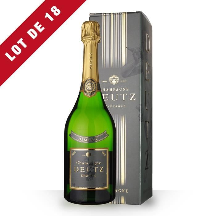 18X Deutz Demi-Sec 75cl - Etui - Champagne