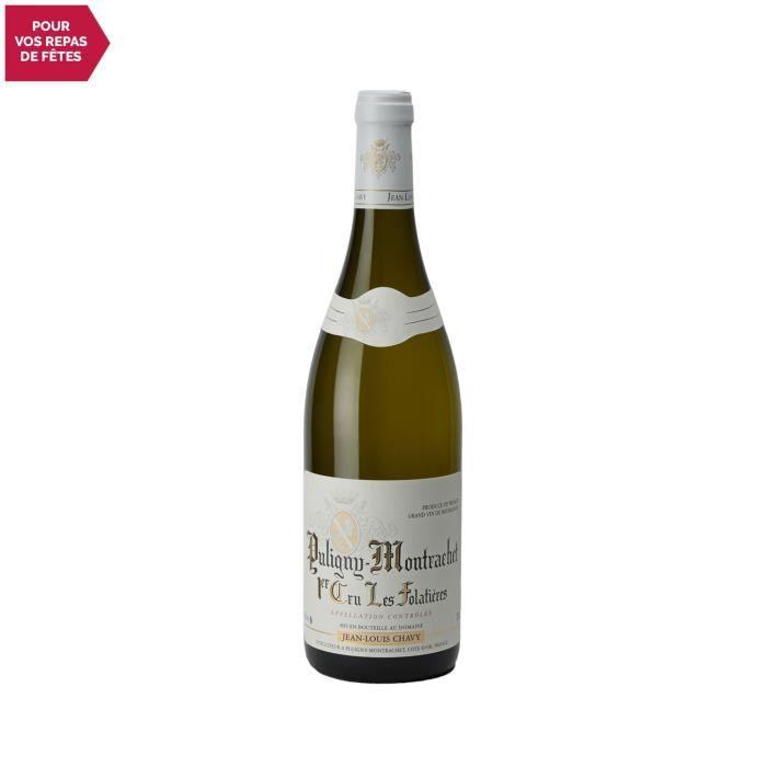 Puligny-Montrachet 1er cru Les Folatières Blanc 2018 - 75cl - Domaine Jean-Louis Chavy - Vin AOC Blanc de Bourgogne