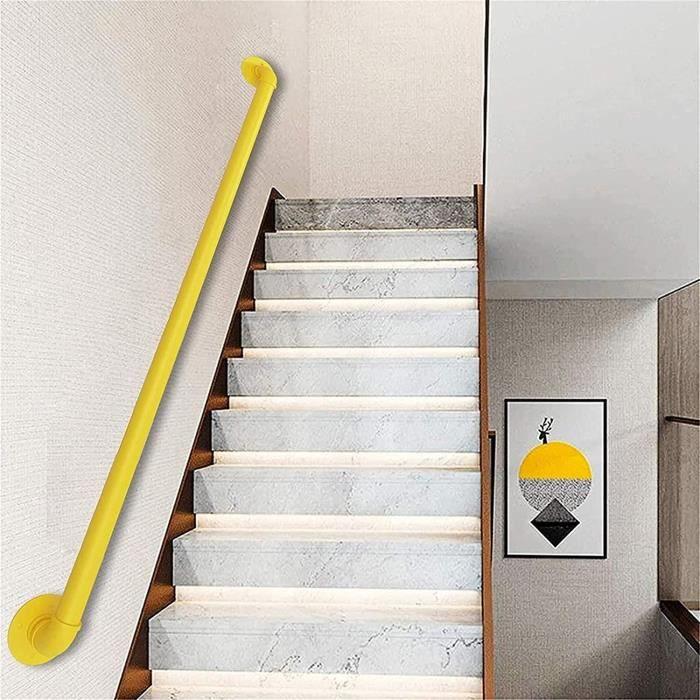 Kit Complet De Main Courante Murale D'escalier, Garde-corps De Support Mural-Aides À L'équilibre Pour Rampes, Escaliers, Couloi A424