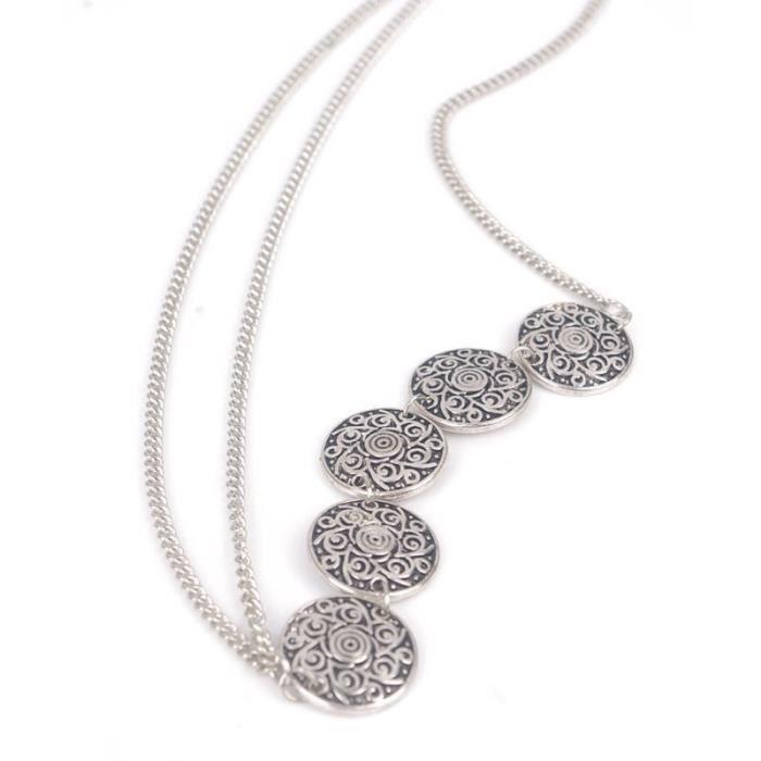 A -Haimeikang – bandeau bohème argent et or, accessoires de cheveux, bijoux pour femmes, tête de fleur, chaîne, front, mariage