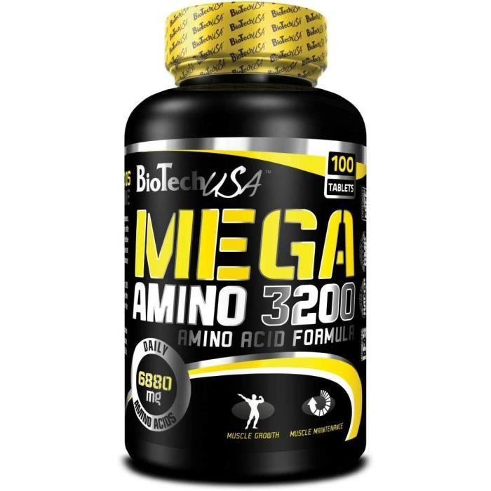 Multi-vitamines et minéraux Biotech USA 12014030000 Méga Amino 3200 Acide Aminé 508780