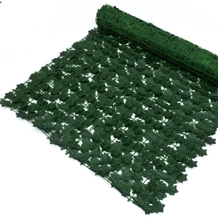 artificielle lierre Plante Artificielle Haie Artificielle Feuille De Lierre Rouleau De Cl&ocircture De Jardin 0.5x3m, Mur Vert 140