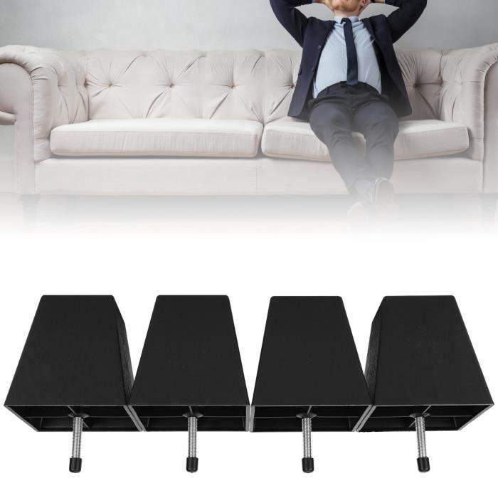 Pied de canapé, 4pcs meubles canapé en plastique jambe noir canapé jambe meubles accessoire M10 vis pour armoire de canapé