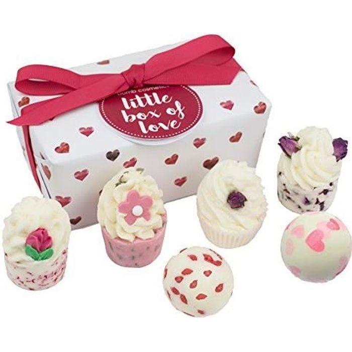 BOMB COSMETICS Little Box of Love Ballotin, Coffret Cadeau pour le Bain, 6 produits GLITLOV06U