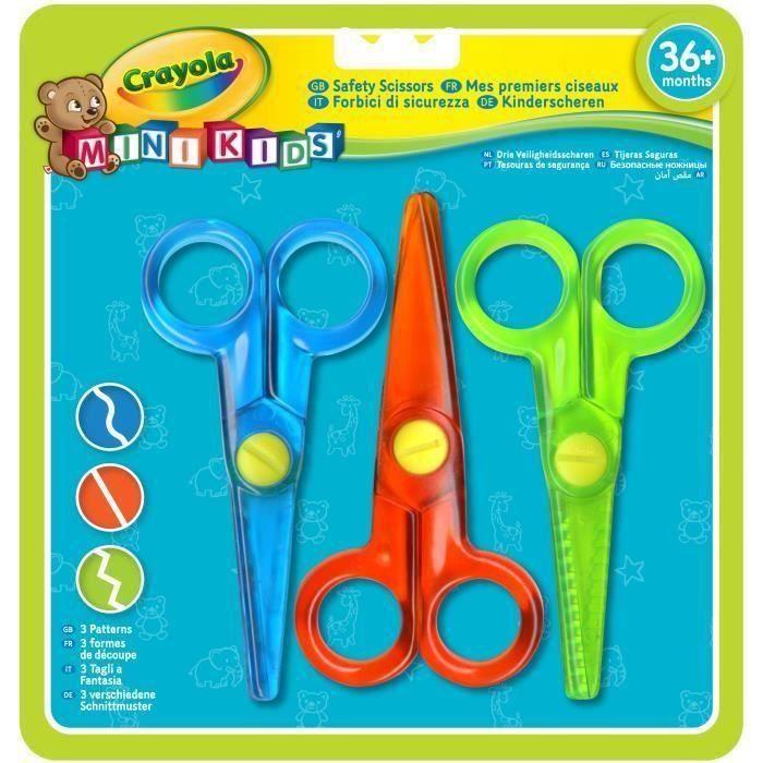 Crayola - Mini Kids - Mes premiers ciseaux (3) - Coloriage pour enfant et tout petit