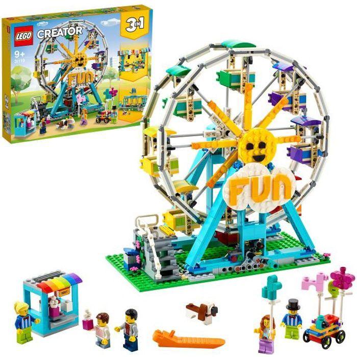 LEGO® 31119 Creator 3-en-1 La grande roue avec Petites Voitures, Fête Foraine, Jouet Enfant 9+ ans