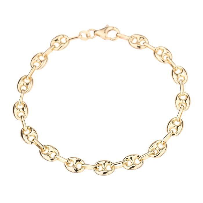 LES BIJOUX D'EMMA Bracelet maille grain de café - Or 9CT