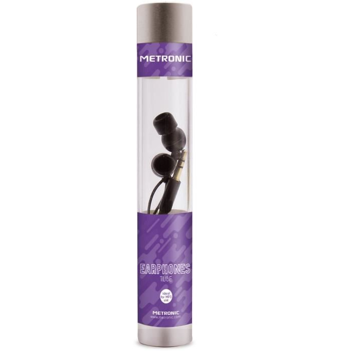 METRONIC-480111-Ecouteurs tube intra auriculaire - noir