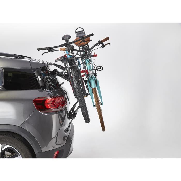 MOTTEZ Porte-vélo 2 vélos électriques à fixation hayon ou barres de toit ou barres railing