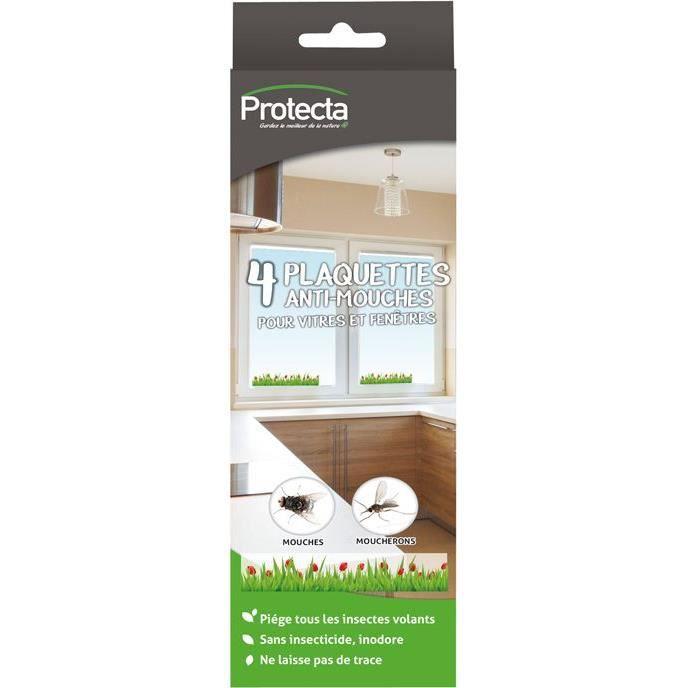 Anti-mouches - plaquette adhésive vitre - lot de 4