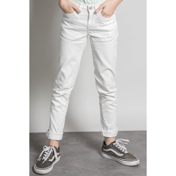 DEELUXE Pantalon slim 5 poches PIME Off White