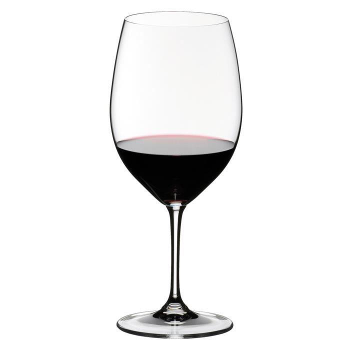 Riedel Vinum Cabernet Sauvignon - Merlot (Bordeaux), Verre à Vin Rouge, Verre de Qualité, 610 ml, Lot de 2, 6416-0