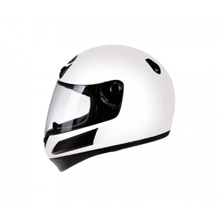 Casque intégral de moto blanc pour enfant Torx Taille L modèle Bobby white neuf