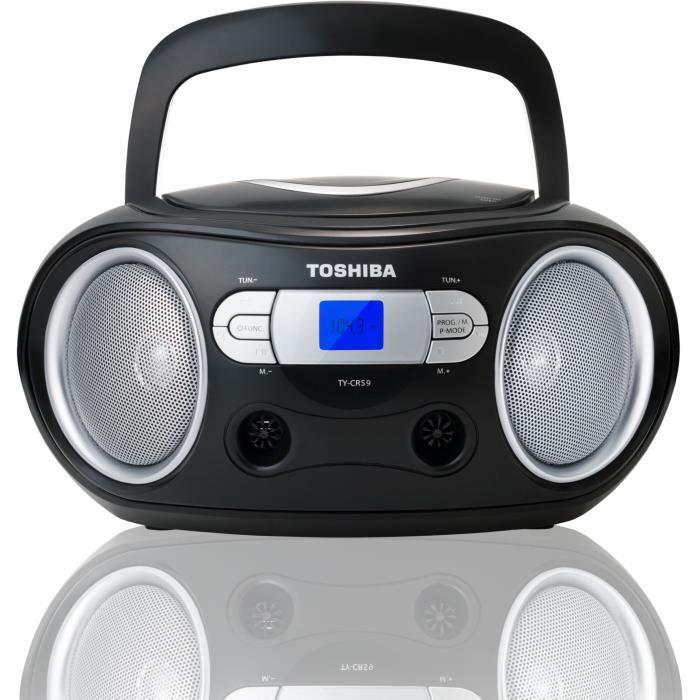 TOSHIBA TY-CRS9 BoomBox CD Portable - Noir