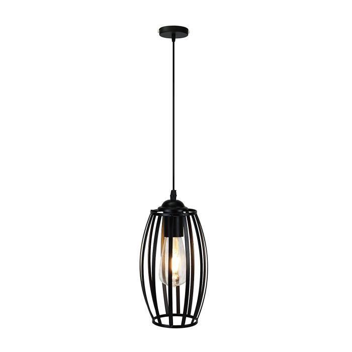 Lampe Suspendu Rétro Antique Vintage Edison Abat-jour en Métal, Plafonnier Industriel Lustre E27 Culot