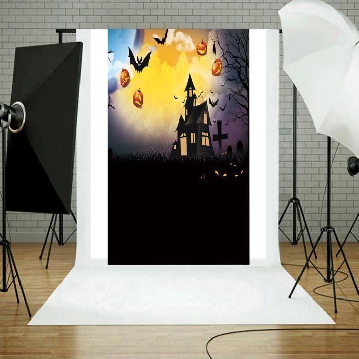 FOND DE STUDIO Toiles de fond citrouille d'Halloween en vinyle 3x