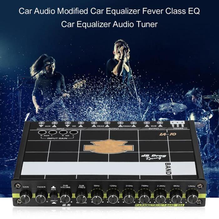 EGALISEUR égaliseur audio graphique modifié EQ 7s pour voitu