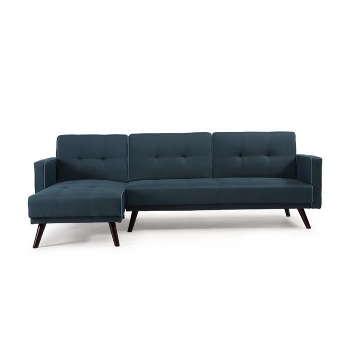 canap d 39 angle convetible design tissu bleu multifonction achat vente canap sofa divan. Black Bedroom Furniture Sets. Home Design Ideas