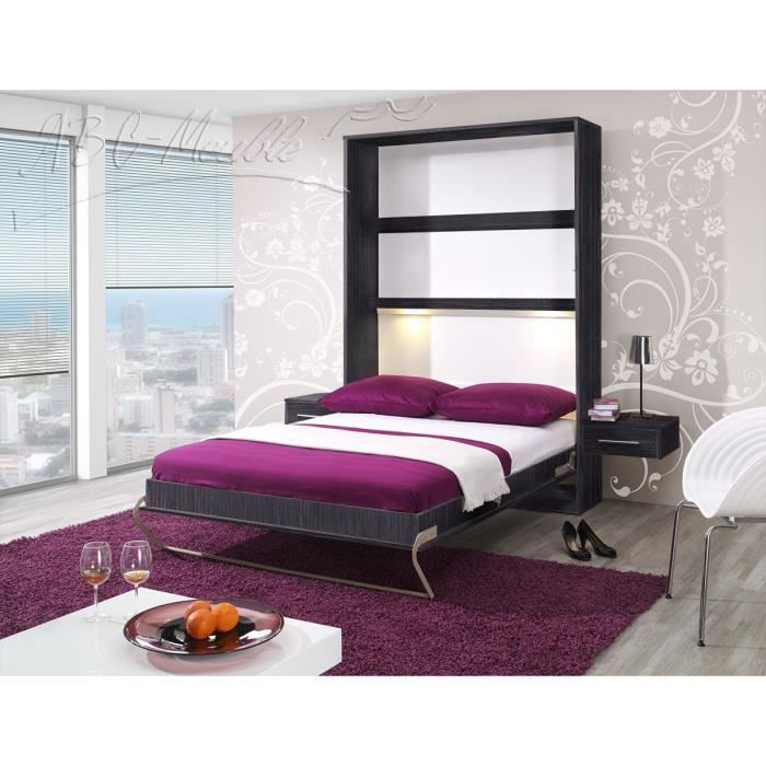 lit escamotable pour un couchage quotidien pr t pour l assemblage emball le sommier lattes. Black Bedroom Furniture Sets. Home Design Ideas