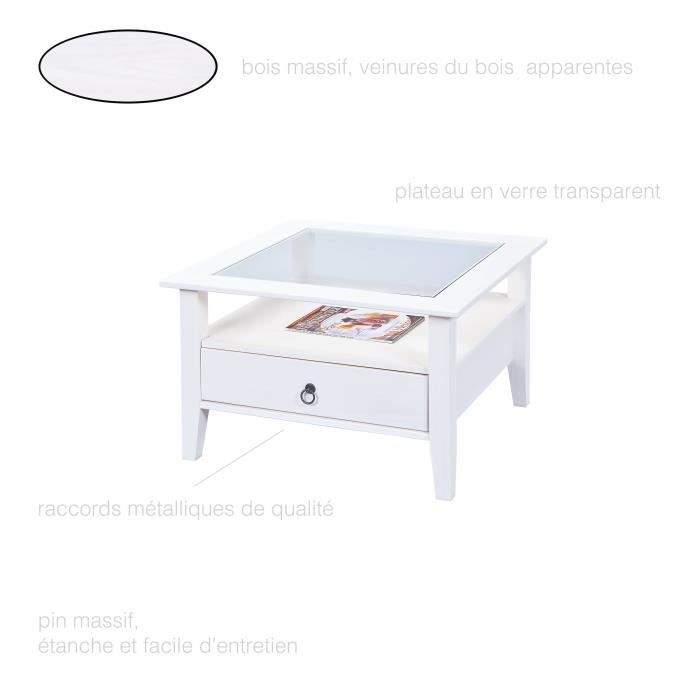 petite table basse carree bois achat vente pas cher. Black Bedroom Furniture Sets. Home Design Ideas