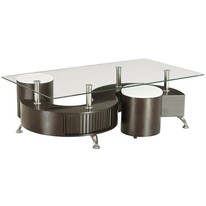 Table basse s - Table basse avec pouf integre ...