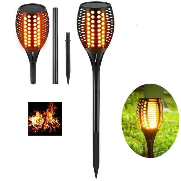 "DEL Solaire-Torche /""Flame/"" Jardin-Torche-Lampe imite feu 3 in 1 fonction"