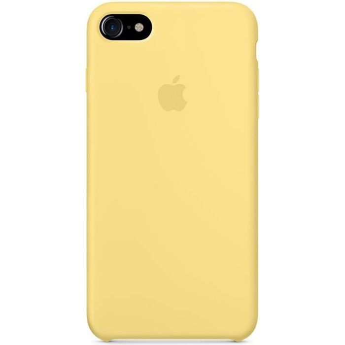 apple coque en silicone iphone 7 8 4 7 jaune