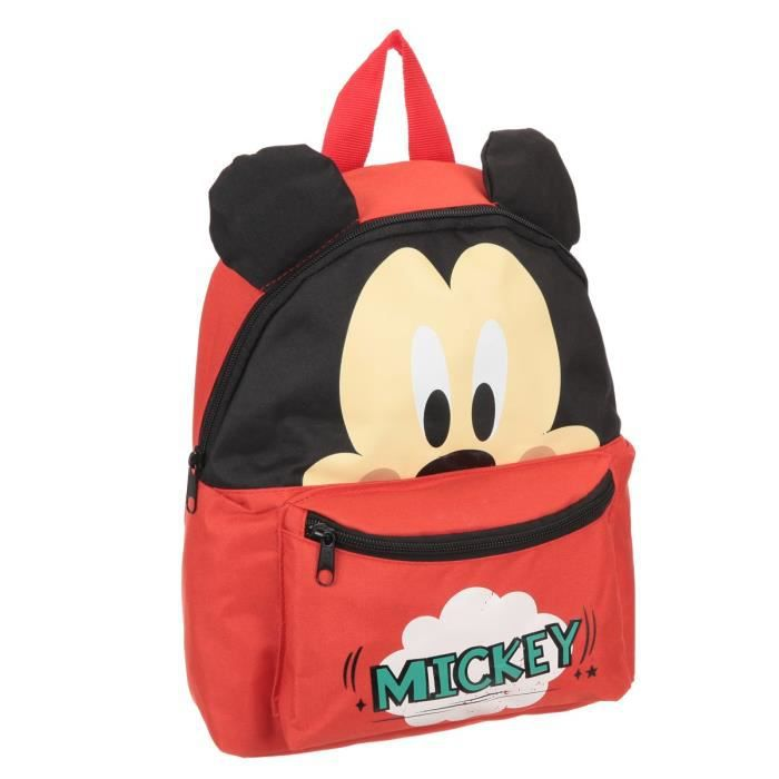 mickey sac dos gar on rouge et noir achat vente sac. Black Bedroom Furniture Sets. Home Design Ideas