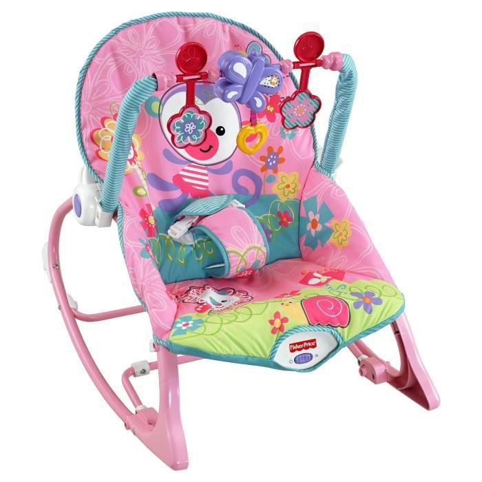 Fisher price transat evolutif rose achat vente transat balancelle 0746775263119 cdiscount for Chaise 4 en 1 fisher price