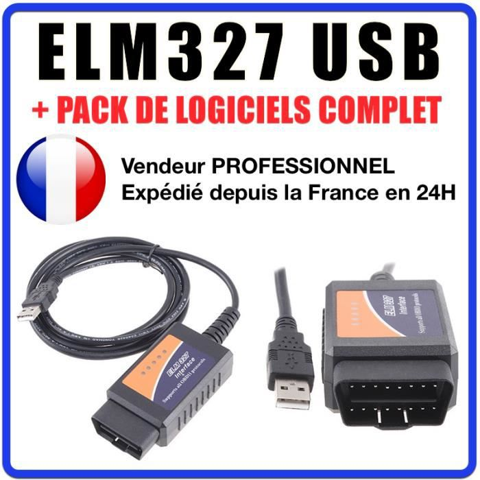 Valise DIAGNOSTIC ELM327 USB WIFI MULTIMARQUES OBD2 100/% en Français
