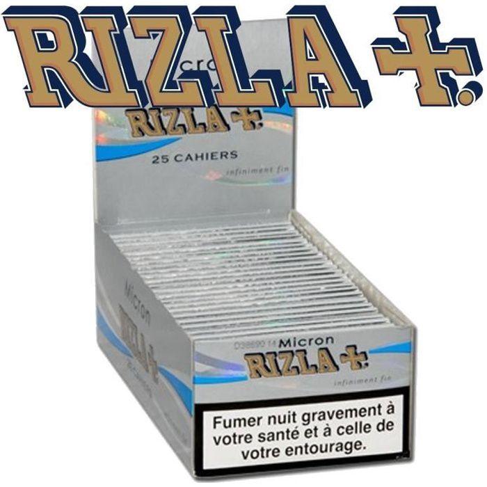 Silver Slim 2 boites de 50 carnets de feuilles à rouler Rizla