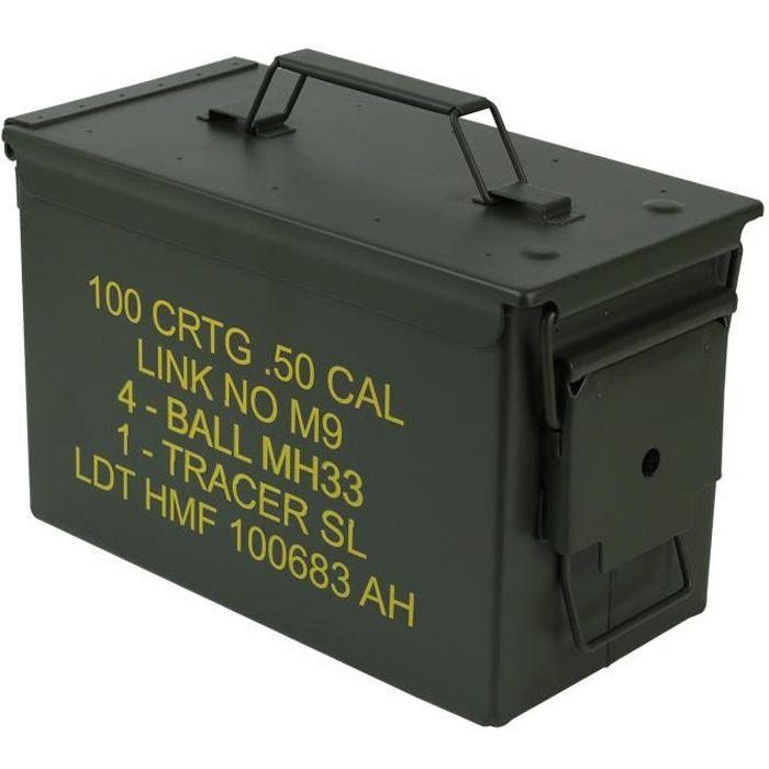 Army Caisse en Bois Boîte de Transport à Outils Coffret Munitions Rangement