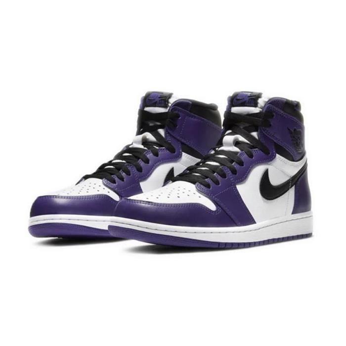 Air Jordan 1 Retro High Court Purple White Basket pour Femme Homme ...