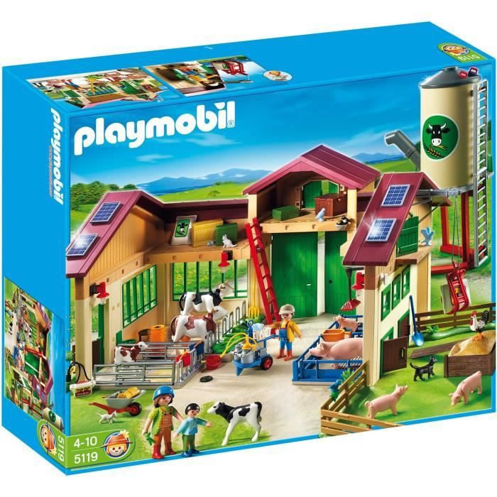 playmobil 5119 ferme moderne avec silo achat vente. Black Bedroom Furniture Sets. Home Design Ideas