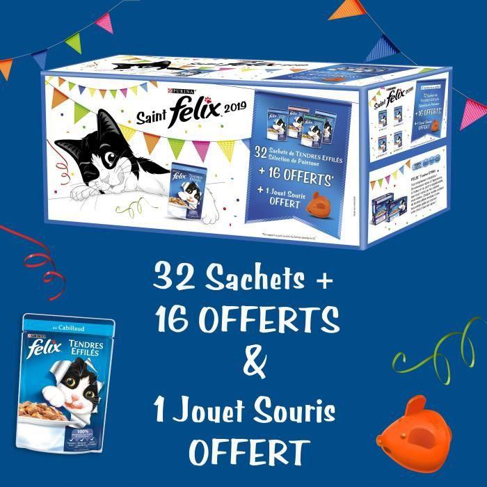 BOITES - PATÉES FELIX Tendres Effilés Poissons Saint Felix - 32x10