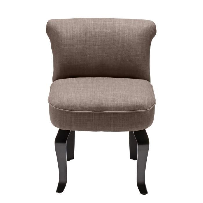 Fauteuil crapaud lin taupe achat vente fauteuil - Fauteuil crapaud lin ...