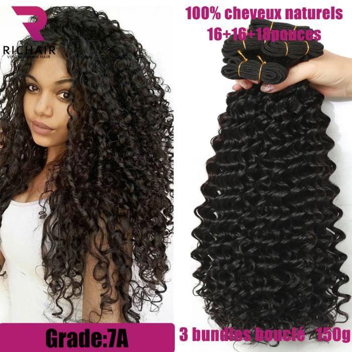 Richair 3 Tissage Brésilien Boucle Cheveux Naturels Curly 16 16 18 Achat Vente Perruque Postiche 3 Tissage Bresilien Boucle Cdiscount
