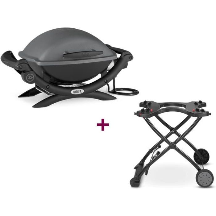 barbecue lectrique q 1400 chariot weber achat. Black Bedroom Furniture Sets. Home Design Ideas