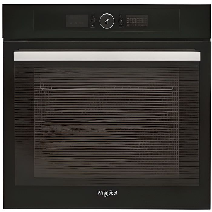 FOUR WHIRLPOOL Four multifonction, pyrolyse, noir, 73 L