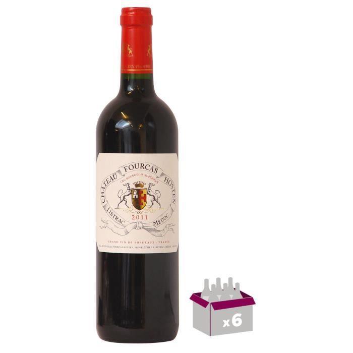 6 Bouteilles CHÂTEAU FOURCAS 2011 Hosten Listrac Vin de bordeaux - Rouge - 75 cl x6
