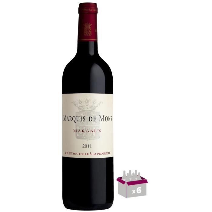 Marquis de Mons 2011 Margaux - Vin rouge de Bordeaux