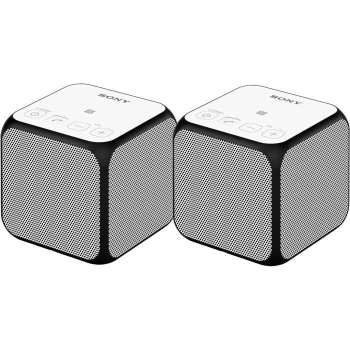 PACK de 2 enceintes SONY SRS-X11 Bluetooth ultra portable - Blanc