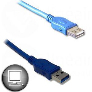CÂBLE INFORMATIQUE Câble Rallonge USB 3.0 A mâle / A femelle 1.8m