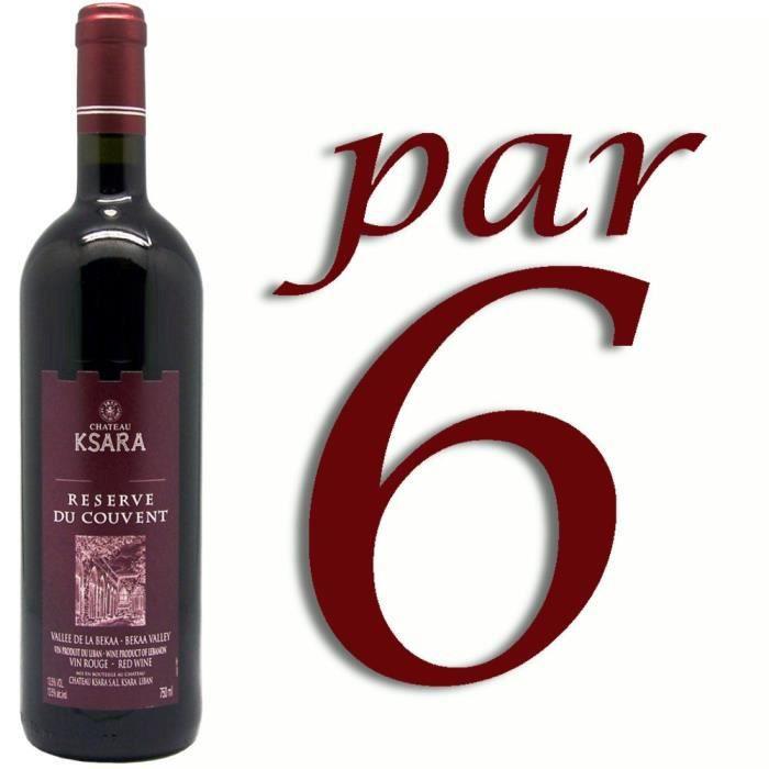VIN ROUGE Ksara Réserve du Couvent Rouge Vin du Liban x6