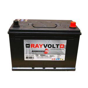 BATTERIE VÉHICULE Batterie à décharge lente RAYVOLT 12V 105AH