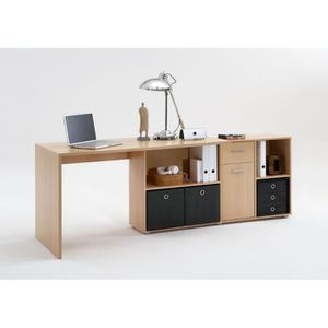 bureau d angle en bois achat vente bureau d angle en bois pas cher cdiscount. Black Bedroom Furniture Sets. Home Design Ideas