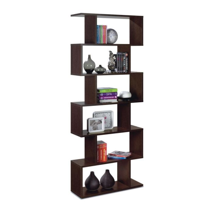 athena biblioth que 80x192cm weng achat vente etag re. Black Bedroom Furniture Sets. Home Design Ideas