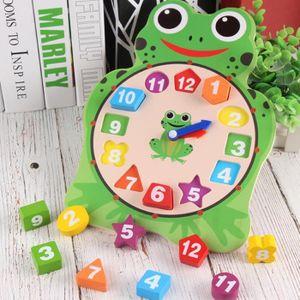 PUZZLE Animaux Horloge en bois Puzzle 12 numéros correspo