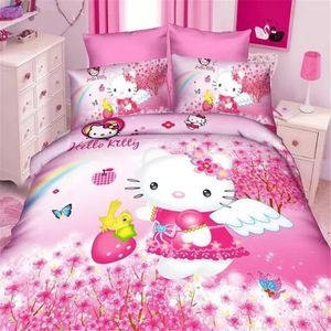 Housse de couette hello kitty 140 200 achat vente for Housse couette hello kitty